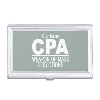 CPA custom color business card holder