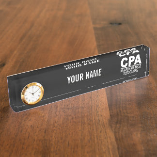 CPA custom color name plate