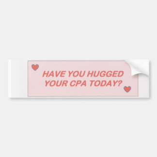 CPA - Hugs Bumper Sticker