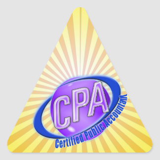 CPA ORB SWOOSH LOGO CERTIFIED PUBLIC ACCOUNTANT TRIANGLE STICKER