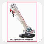 CPCS Crawler Crane Operator Square Sticker