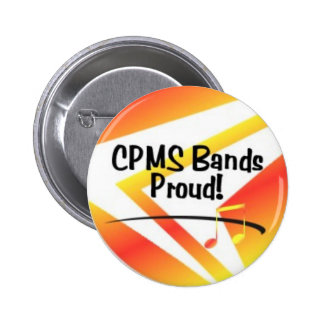 CPMS Bands Proud! 6 Cm Round Badge