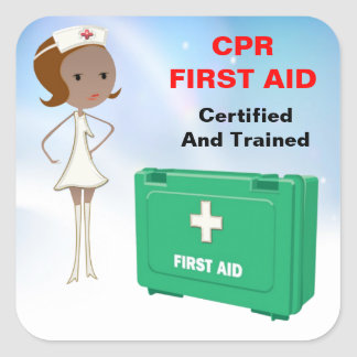 CPR First Aid Stickers