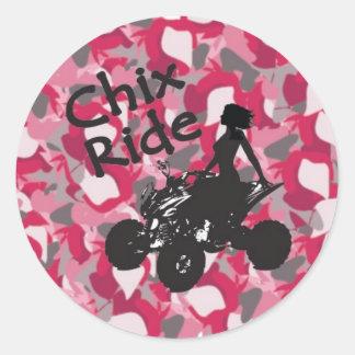 CR Pink Camo Stickers