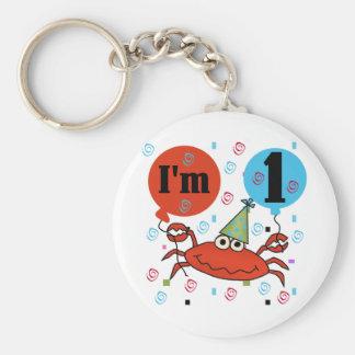 Crab 1st Birthday Tshirts and Gfits Keychains
