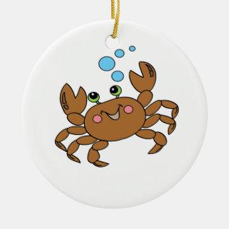 Crab 3 ceramic ornament