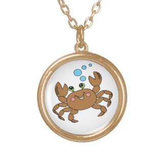 Crab 3 gold plated necklace