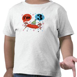 Crab 3rd Birthday Tee Shirts