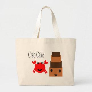 Crab and Cake Large Tote Bag