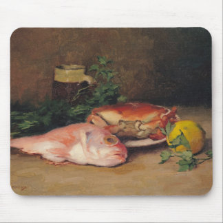 Crab and Red Mullet Mouse Pad