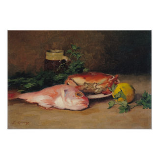 Crab and Red Mullet Posters
