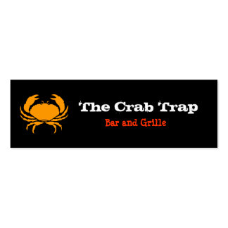 Crab and Seafood Restaurants Pack Of Skinny Business Cards