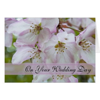 Crab Apple Blossoms Blended Family Wedding Greeting Card