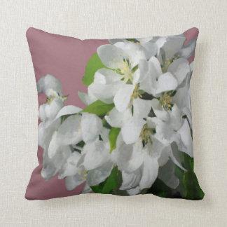Crab Apple Blossoms Cushion