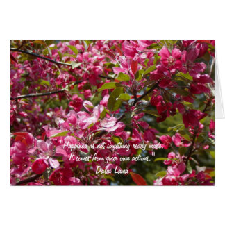 Crab Apple Flowers with Dalai Lama Quote Card