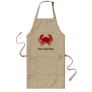 Crab apron with personalizable text | beige