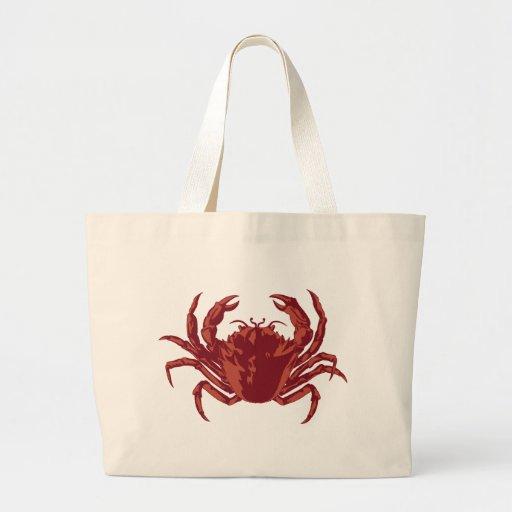 Crab at the Shore Canvas Bag