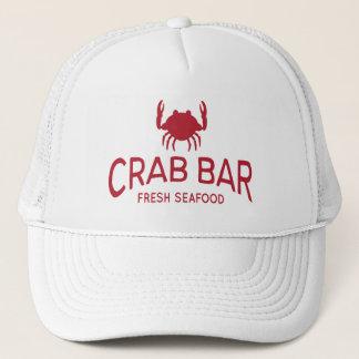Crab Bar Fresh Seafood Logo Trucker Hat