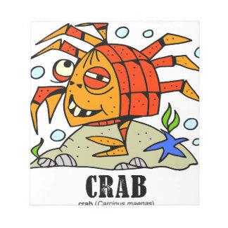 Crab by Lorenzo © 2018 Lorenzo Traverso Notepad