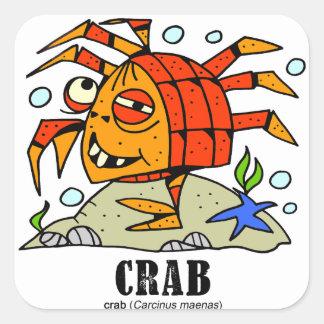 Crab by Lorenzo © 2018 Lorenzo Traverso Square Sticker