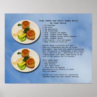 Crab Cakes Recipe Poster