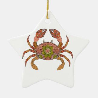 Crab Ceramic Ornament
