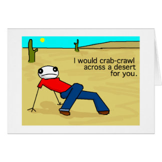 Crab Crawl Greeting Card