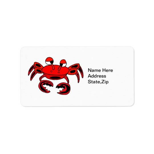 Crab Cute Address Label