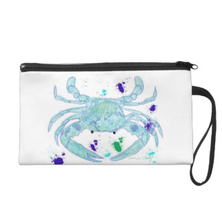 Crab design wristlet. wristlet purse