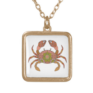 Crab Gold Plated Necklace