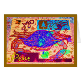 Crab Holiday Collage Card