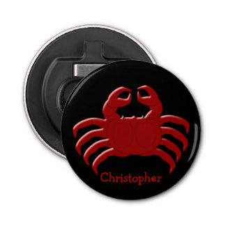 Crab Just Add Name Bottle Opener