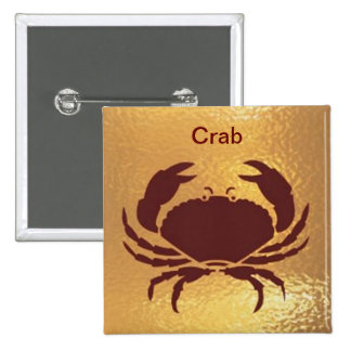 Crab Marine Fish Bird Insect   - Medal Icon Gold Pin