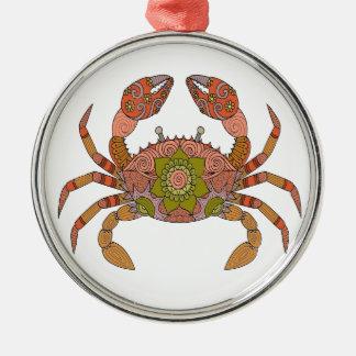 Crab Metal Ornament