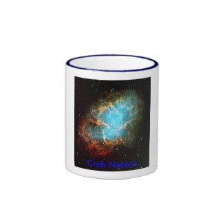 Crab nebula, Crab Nebula, Crab Nebula Ringer Coffee Mug