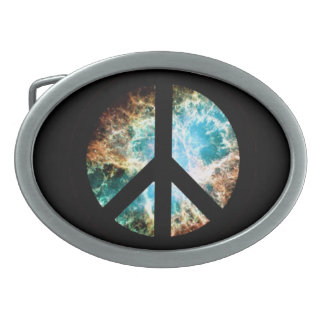 Crab Nebula Peace Sign Belt Buckles