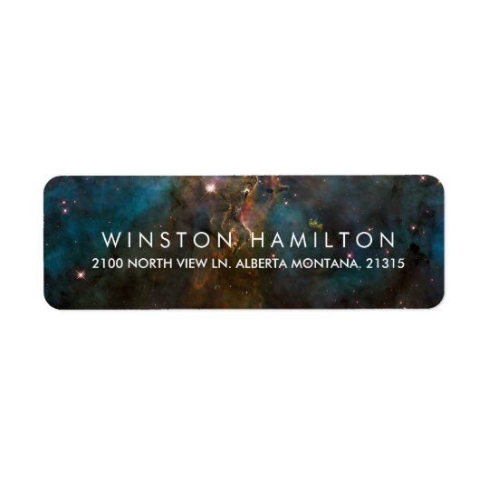 Crab Nebula | Personalised Return Address Return Address Label