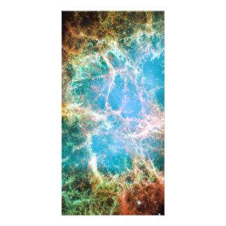 Crab Nebula Custom Photo Card