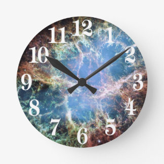Crab Nebula Supernova NASA Round Clock