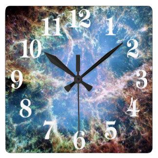 Crab Nebula Supernova NASA Square Wall Clock