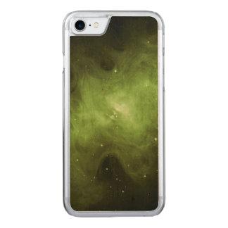 Crab Nebula, Supernova Remnant, Green Light Carved iPhone 8/7 Case