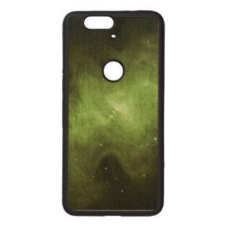 Crab Nebula, Supernova Remnant, Green Light Wood Nexus 6P Case