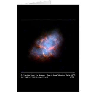 Crab Nebula Supernova Remnant – Spitzer Space Tele Card
