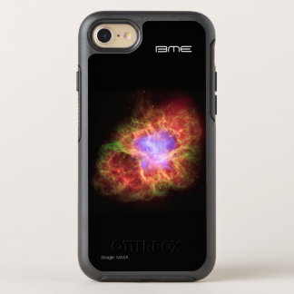 Crab nebula your initials astronomy OtterBox symmetry iPhone 8/7 case