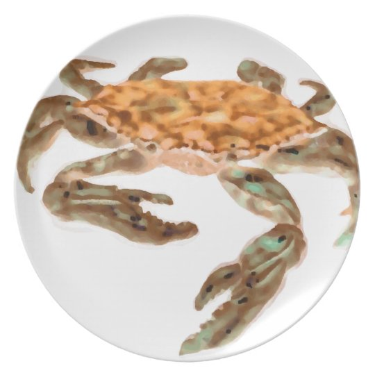 Crab on Beach Plate