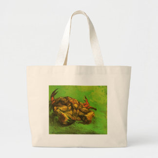 Crab on It`s Back by Vincent van Gogh Jumbo Tote Bag