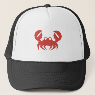 Crab print trucker hat