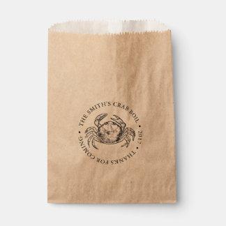 Crab   Seafood Boil or Bake Customizable Favour Bag