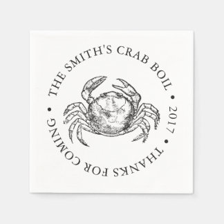 Crab   Seafood Boil or Bake Customized Paper Napkins
