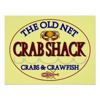 Crab Shack Logo Poster